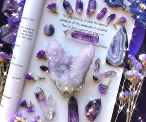 crystal, witch, and amethyst image