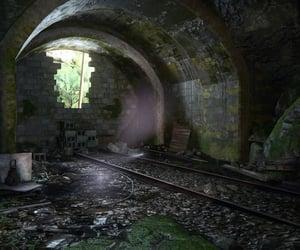 broken, dark, and tracks image