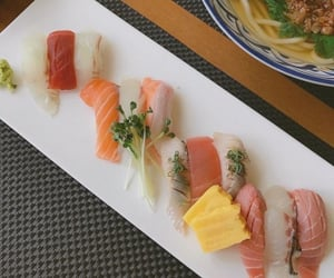 delicious, seafood, and sushi image