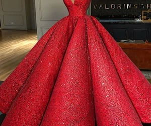 dress, glam, and haute couture image