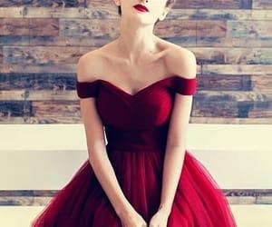 dress, burgundy homecoming dress, and maroon homecoming dress image