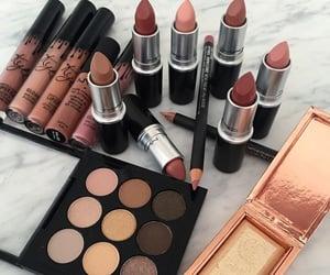 beauty, eye shadow, and gloss image
