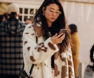 dior, fashion, and fur coat image