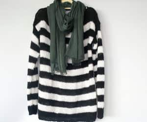 etsy, striped sweater, and goth clothing image