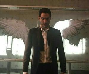 lucifer, angel, and tom ellis image