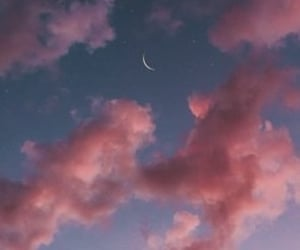 aesthetic, moon, and sky image