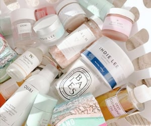 pink, skincare, and white image
