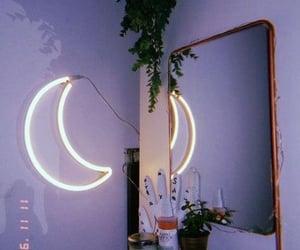 moon, purple, and room image