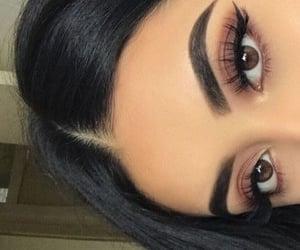 black hair, kylie cosmetic, and brown eyes image