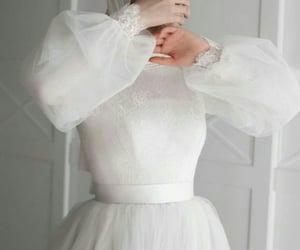 bride, wedding, and hijabfashion image