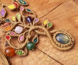 handmade, jewellery, and macramè image
