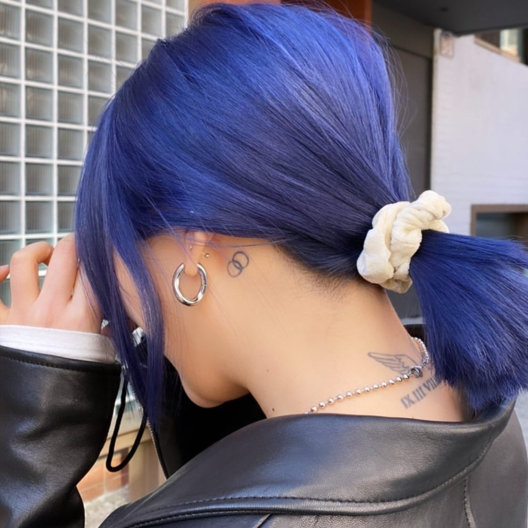 aesthetic, blue hair, and kpop image