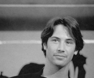 actor, keanu reeves, and black and white image