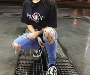 vans, fashion, and girl image