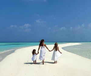 beach, tropical, and white sand image