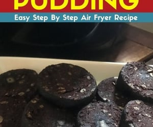 air fryer recipes, air fryer, and air fryer black pudding image