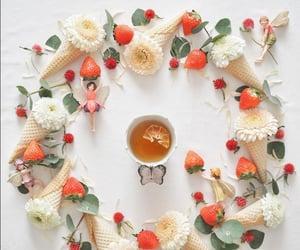 cup of tea, strawberry, and koko_secretrainbowpath image