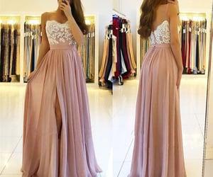 robe de soirée, a line prom dress, and chiffon prom dress image