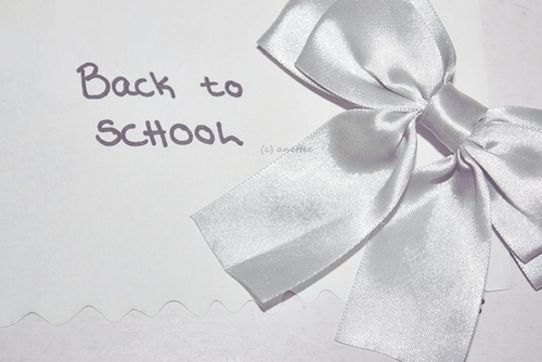 back, school, and bow image