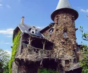 castle, house, and abandoned image