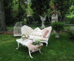 aesthetic, angel, and garden image