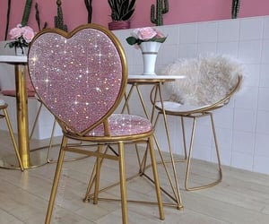 pink and chairs image