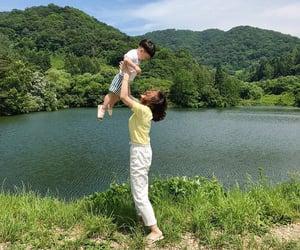 kids, korea, and mother image