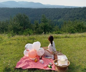 green, korea, and picnic image