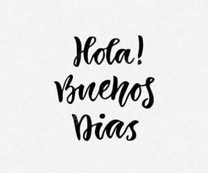 hola and buenos días image