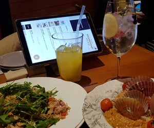 cocktail, drinks, and seafood image