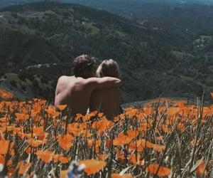 couple, flowers, and orange image