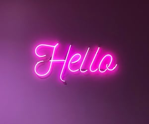 hello, light, and neon image