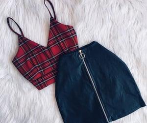 negra, outfits, and falda image