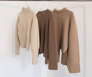 fashion, brown, and beige image