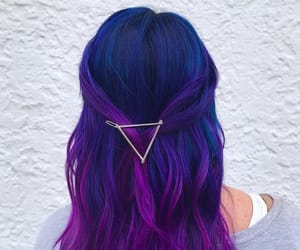 hair, hairstyle, and purple image