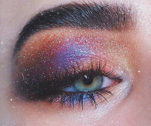 beautiful eyes, eyelid, and beautiful eye makeup image
