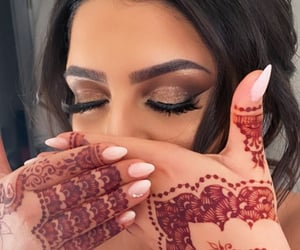 beauty, bride, and henna image