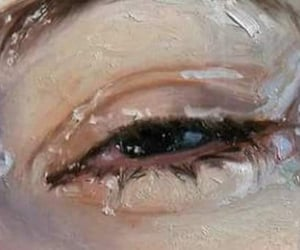 art, sad, and painting image