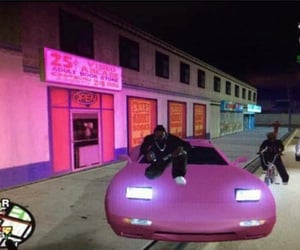 pink, aesthetic, and gta image
