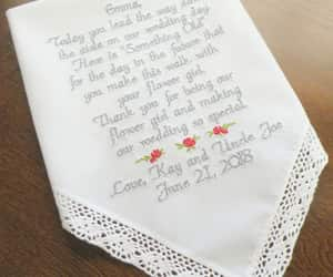 embroidered, wedding gift, and flower girlgifts image