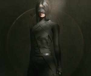 blindfold, dark, and game-art image