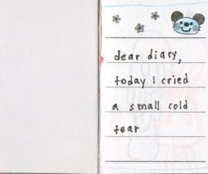 cry, diary, and sad image