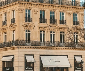 architecture, boutique, and cartier image