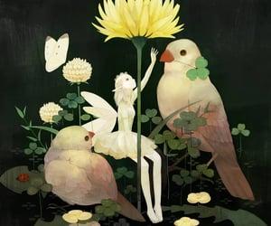 fairy, art, and bird image