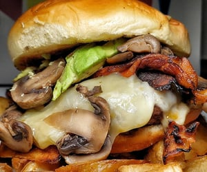 burger, delicious, and food photography image