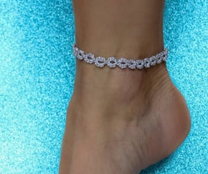barefoot, bracelet, and chain image
