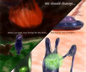 alien, nature, and art image