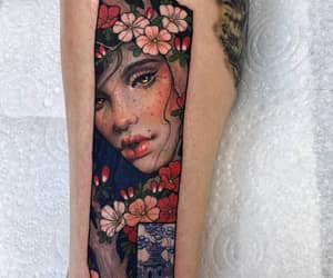 art, colored tattoo, and drawing image