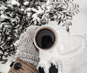 coffee, snow, and white image