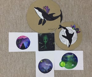 alien, planet, and whale image